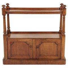 Antique Victorian Walnut Buffet, Sideboard, Server, Scotland 1870