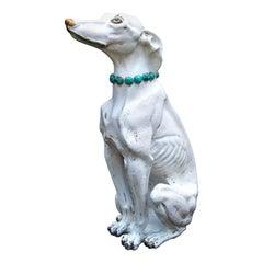 Glazed Terra Cotta Stylish Greyhound