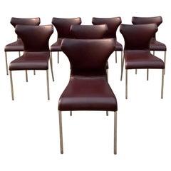 Set of 8 Papilio Chairs by Naoto Fukasawa for B&B Italia