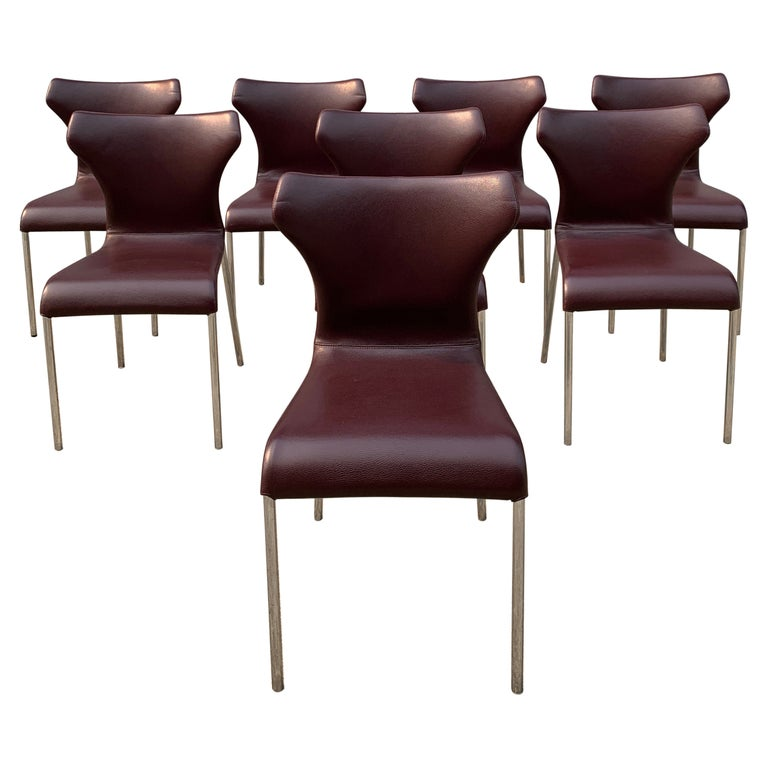 Set of 8 Papilio Chairs by Naoto Fukasawa for B&B Italia For Sale