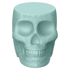 in Stock in Los Angeles, Light Blue Mexico Skull Mini Power Bank Charger