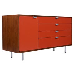 George Nelson Two-Tone Lacquered & Steel Credenza for Herman Miller