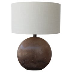 1970s Italian Marble Table Lamp