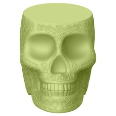 in Stock in Los Angeles, Green Mexico Skull Mini Power Bank Charger