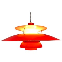 Iconic Rare 2nd Edition Poul Henningsen PH 5 Chandelier Pendant Lamp from 1959