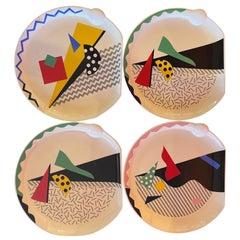 "Set of Four Post Modern / Memphis ""Carnival"" Plates by Kato Kogei for Fujimori"