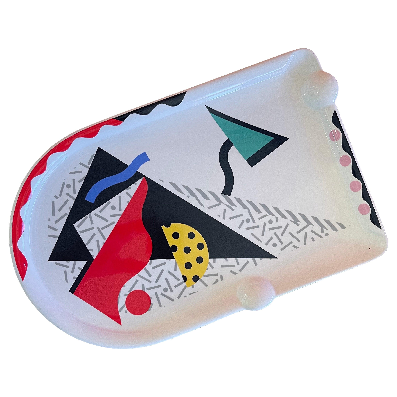 "Post Modern / Memphis ""Carnival"" Platter by Kato Kogei for Fujimori"