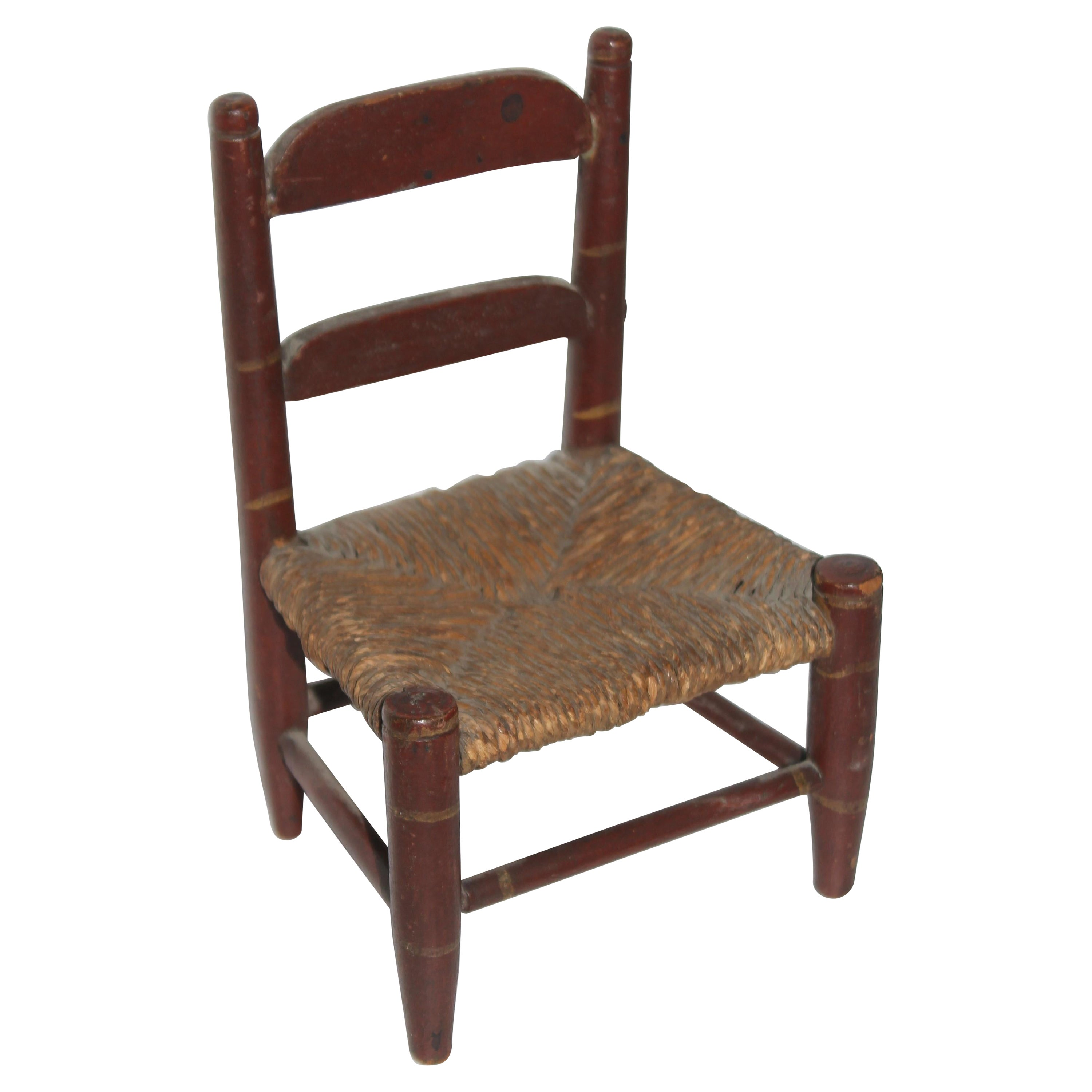 Early 19thc Original Painted Miniature Chair