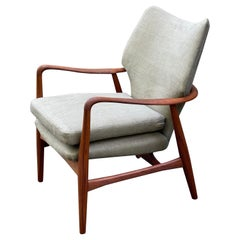 Danish Lounge Chair by Madsen and Schubell in Teak, 1950s
