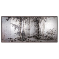 Japanese Six Panel Screen Bamboo Forest in Kyoto