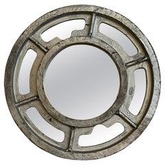 Large Industrial Gear Pattern Mirror