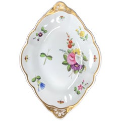 Spode Earthenware Diamond Shaped Dish with Painted Flowers & Insects, c. 1815