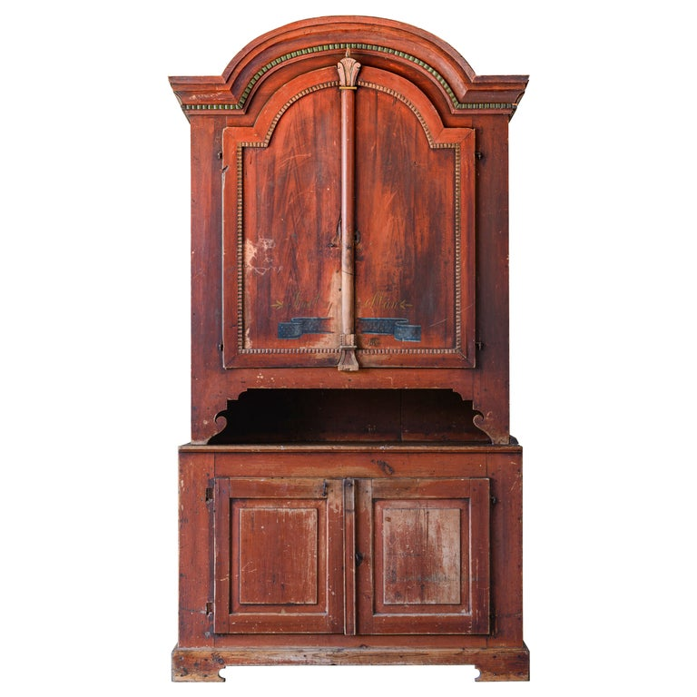19th Century Provincial Gustavian Cabinet For Sale