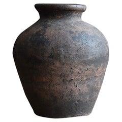 """Old Japanese Pottery Around 1500s """"Shigaraki"""" Jar /Antique Vase/ Wabi-Sabi Tsubo"""
