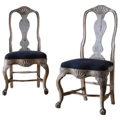 Fine Pair of 18th Century Swedish Rococo Chairs