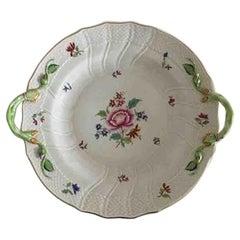 Herend Hungary Cake Dish, Hand-Painted Flowers