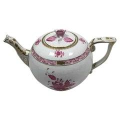 Herend Hungary Apponyi Purple Tea Pot No 601