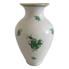 Herend Hungarian Chinese Bouquet Green Vase