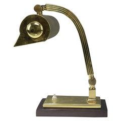 1930's Italian Art Deco Banker Lamp
