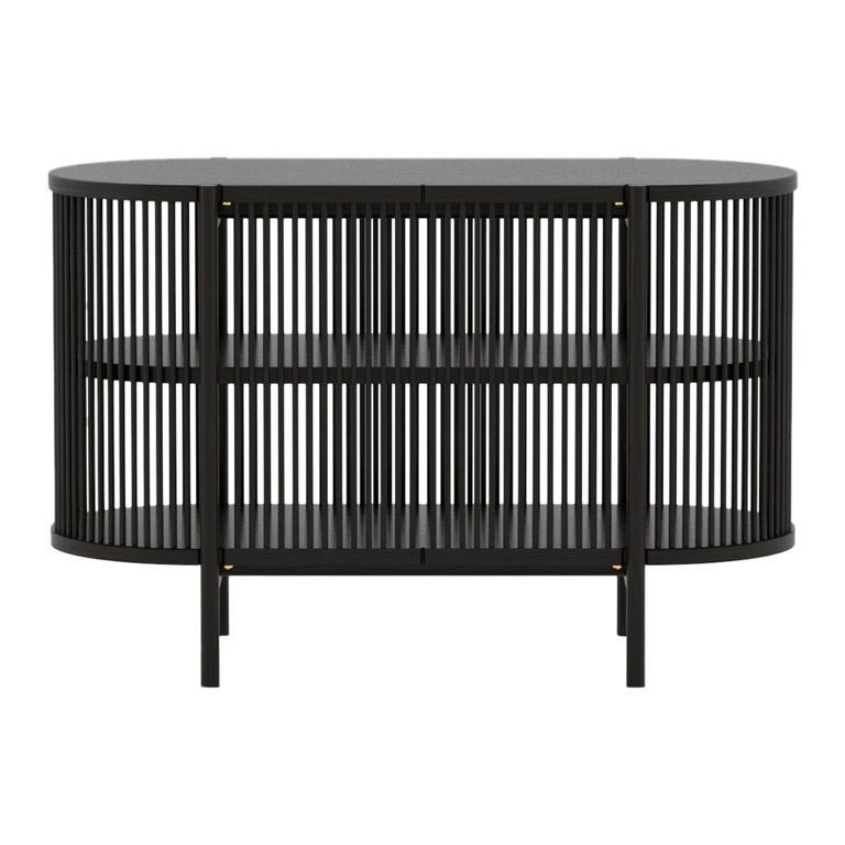 Petit Bastone Sideboard in Black with Doors For Sale