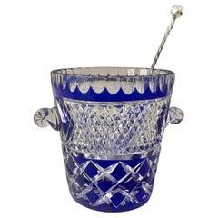 1980's French Vintage Crystal De Boheme Ice Bucket