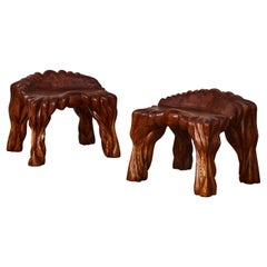 Wooden Stools by Nicolet