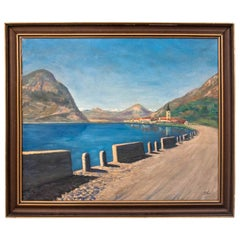"""Painting """"Road to a Seaside Town"""""""