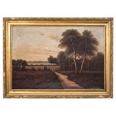"""Painting """"Road Between Meadows"""""""