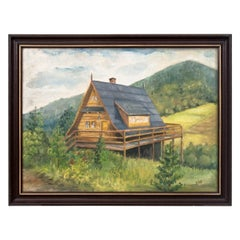 """Painting """"Cottage in the Mountains"""""""