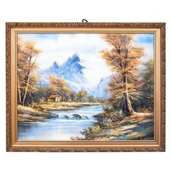"""Painting """"Mountain River"""""""