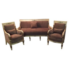 20th Century French Empire Salon Ameublement with Two Armchairs