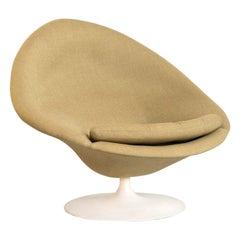 Pierre Paulin Globe Lounge Chair in Khaki Wool for Artifort, Netherlands