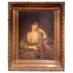 Monumental Oil on Canvas Painting / Portrait, 19th Century