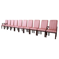 Michael Taylor for Baker Far East Collection Greek Key Dining Chairs, Set of Ten
