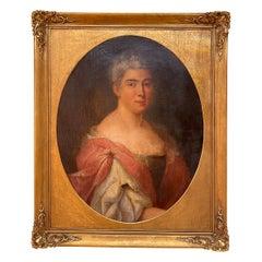 Antique Portrait / Oil Painting of a Noblewoman, France 18th Century