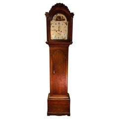 Beautiful Antique English Grandfather Clock, Oak, 19th Century