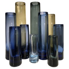 Set of Ten Holmgaard Glass