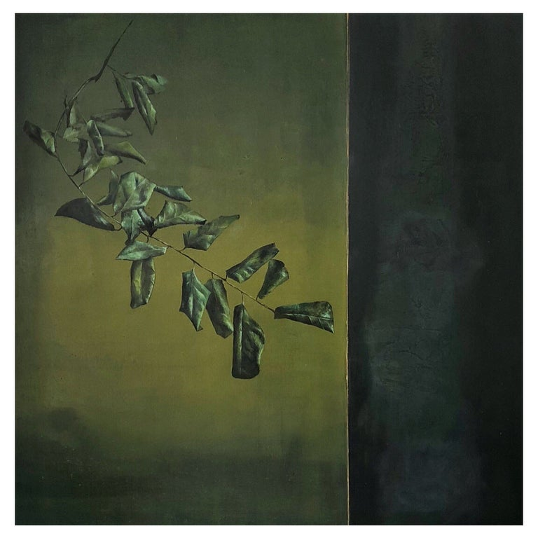 """Sublime Oil on Canvas by Clement Rosenthal """"Wilted Foliage"""" For Sale"""