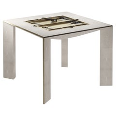 Shagreen Multiple Game Table with Bronze-Patina Brass Accents R&Y Augousti