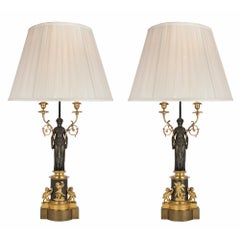 Pair of 19th Century French Neo-Classical St. Lamps