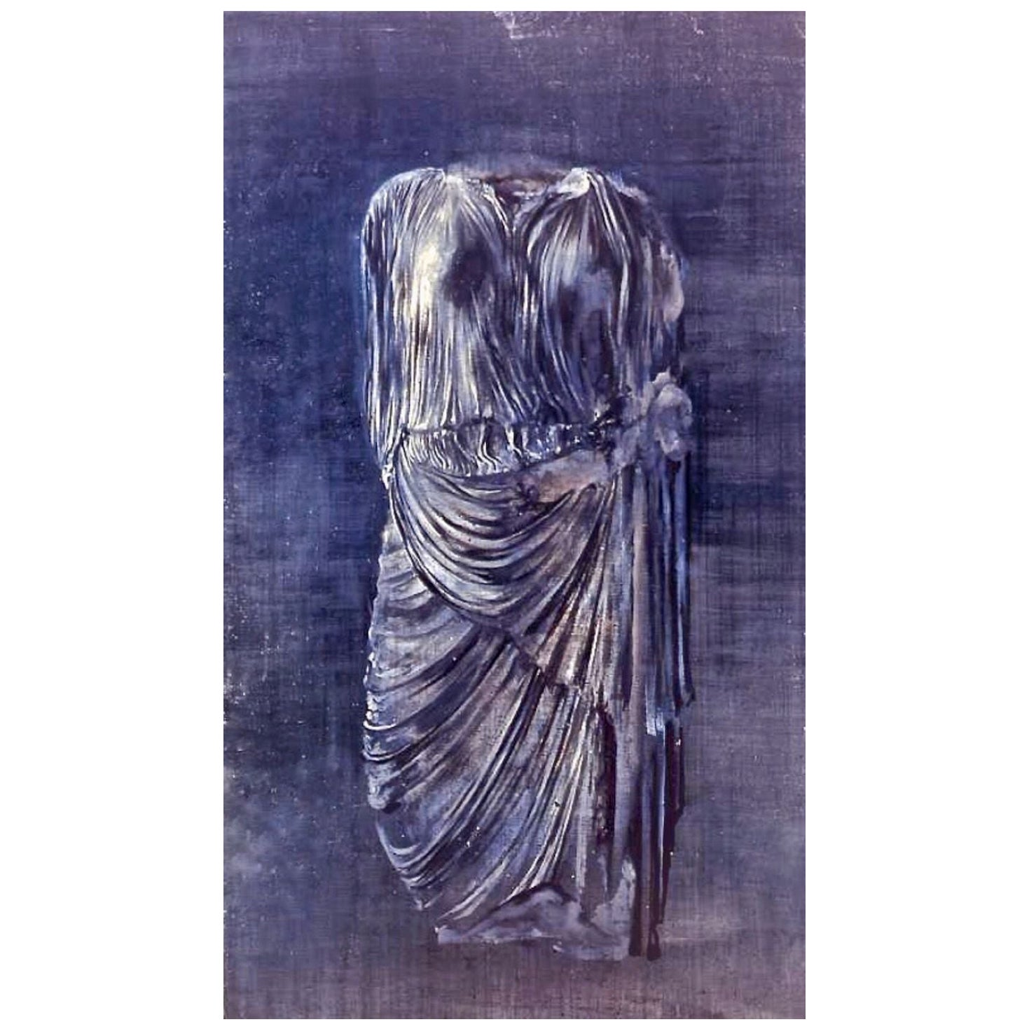 """Incredible Painting by Clement Rosenthal """"Caryatid"""", Oil on Canvas"""