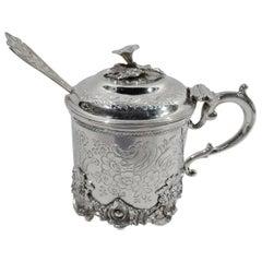 Antique English Victorian Sterling Silver Mustard Pot