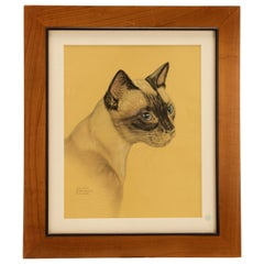 Color Print Depicting a Siamese Cat, USA, 1940
