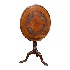Antique Occasional Table, English, Walnut, Tilt Top, James Shoolbred, Victorian