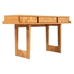 """Paul Laszlo """"Basket Weave"""" Desk / Console Table for Brown Saltman"""