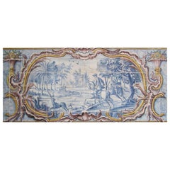 "18th Century Portuguese ""Azulejos"" Panel ""Countryside Scene"""