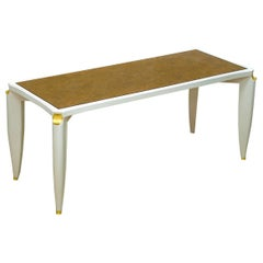 Maurice Jallot Lacquer and Verre Eglomise Coffee Table