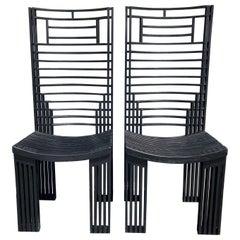 Bermont Chairs by Miguel Rodrigo Mazure, Black, Oak