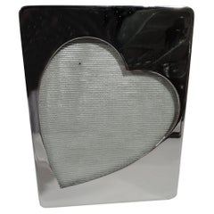 American Sterling Silver Valentine's Day Heart Picture Frame
