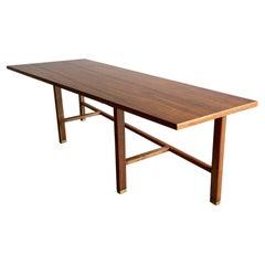 Vintage Edward Wormley for Dunbar Asymmetrical Walnut Coffee Table